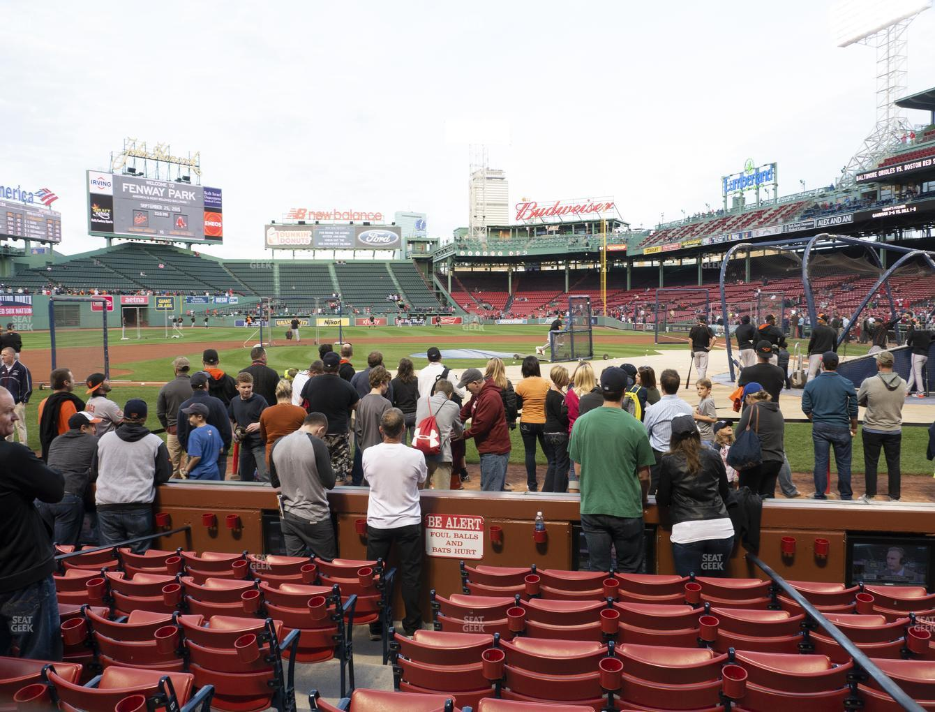 Boston Red Sox at Fenway Park Field Box 56 View