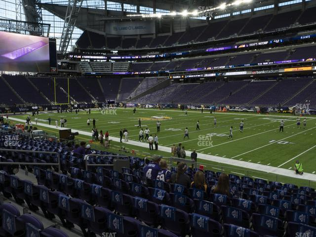 U.S. Bank Stadium Section 127 view