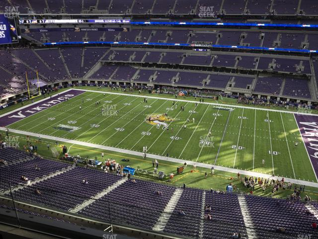 U.S. Bank Stadium Section 310 view