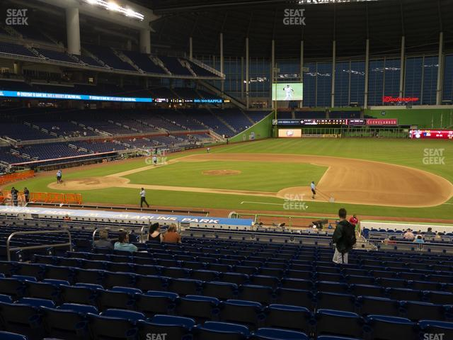 Marlins Park Section 8 view