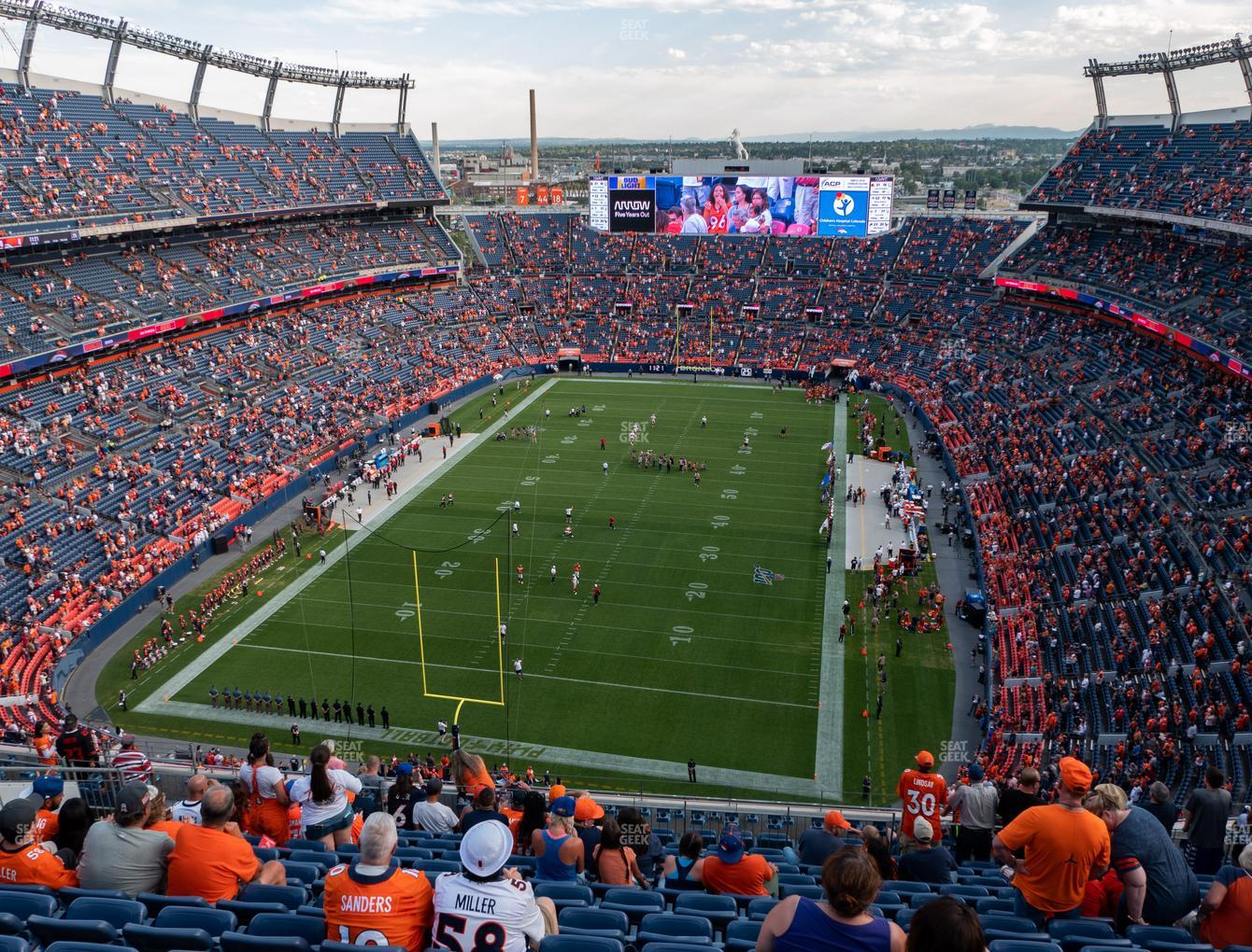 Denver Broncos at Empower Field at Mile High Section 519 View
