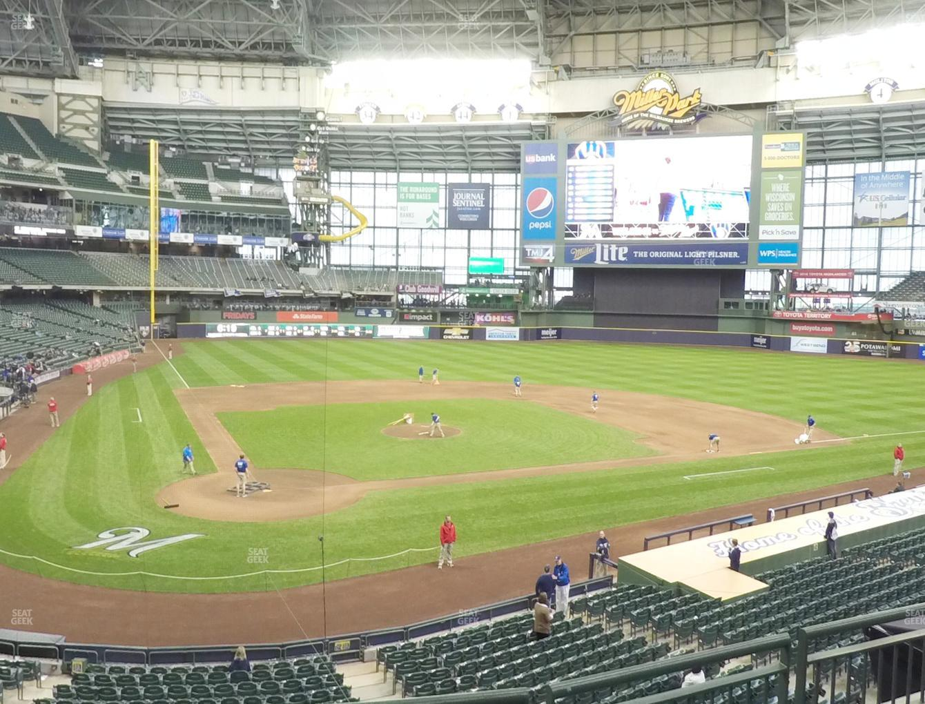 Milwaukee Brewers at Miller Park Section 216 View
