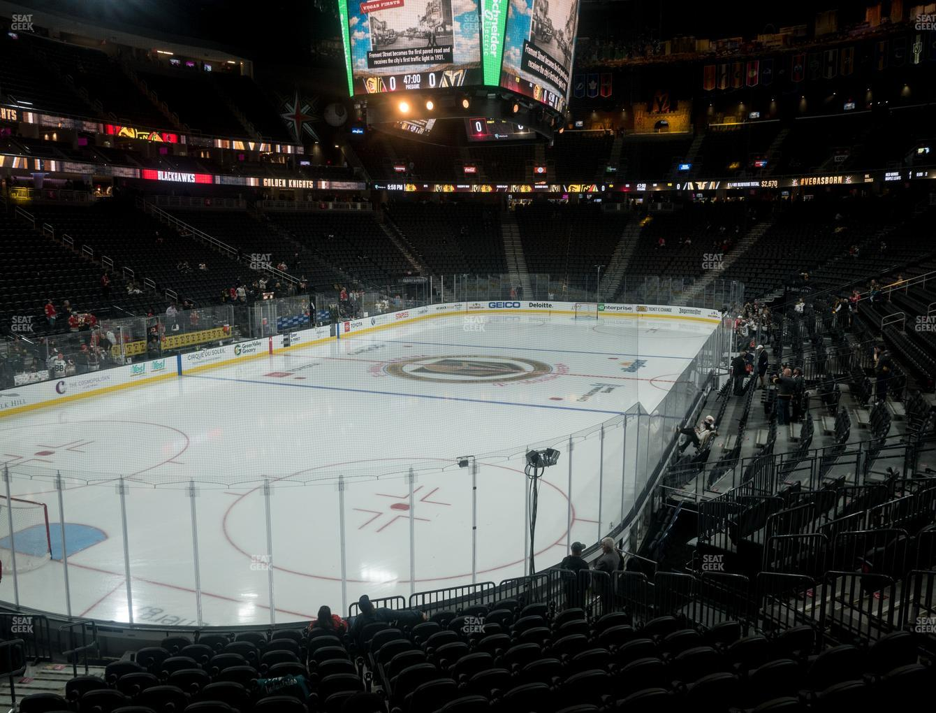 Vegas Golden Knights at T-Mobile Arena Section 12 View