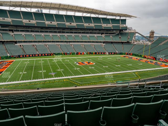 Paul Brown Stadium Section 213 view