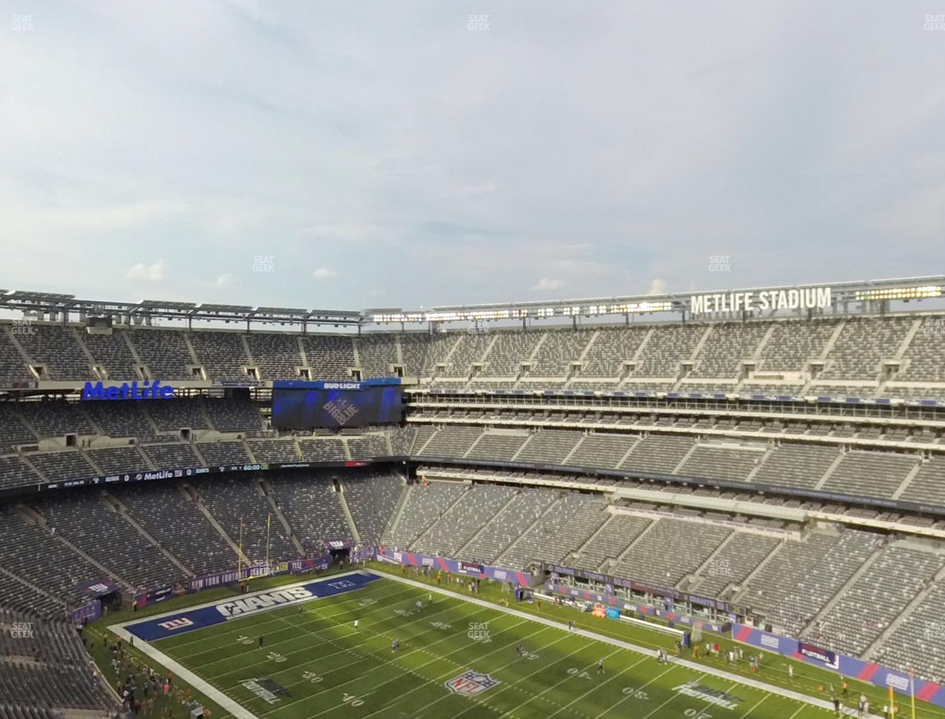 ff463ecbdb0 New York Jets at MetLife Stadium Section 333 View ...