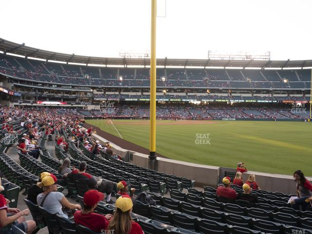 Angel Stadium of Anaheim Section 133 view