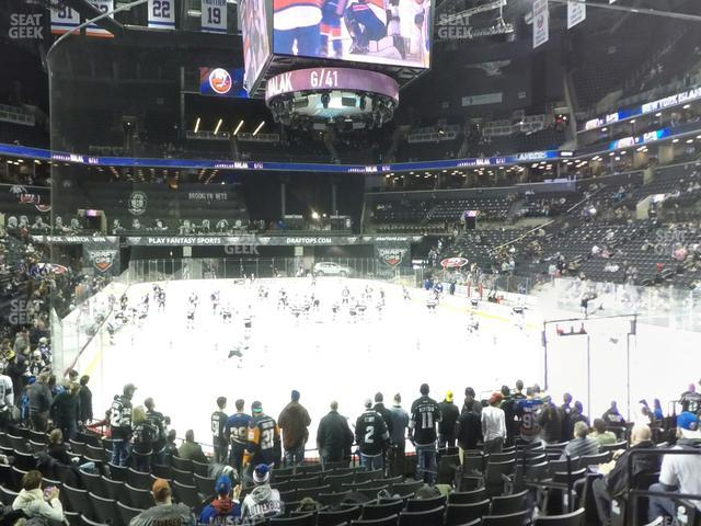 Barclays Center Section 17 view
