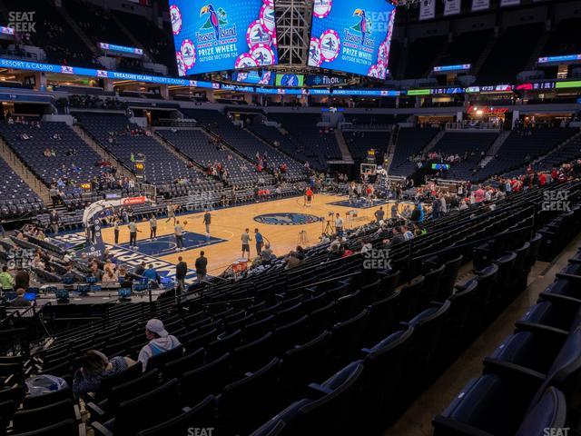 Target Center Section 136 view