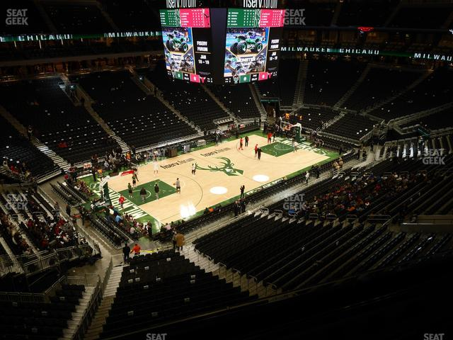Fiserv Forum Section 211 view