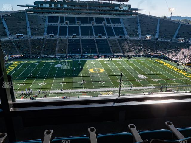Autzen Stadium Charter Box 6 view