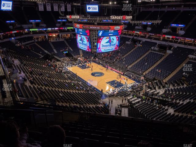 Target Center Section 205 view
