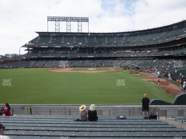 Oracle Park Bleachers 137 view