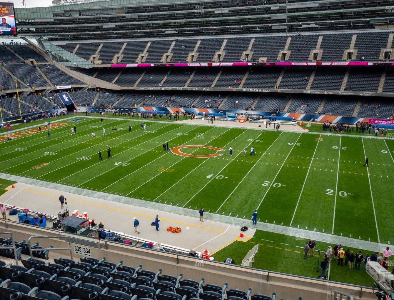 Chicago Bears at Soldier Field Section 334 View