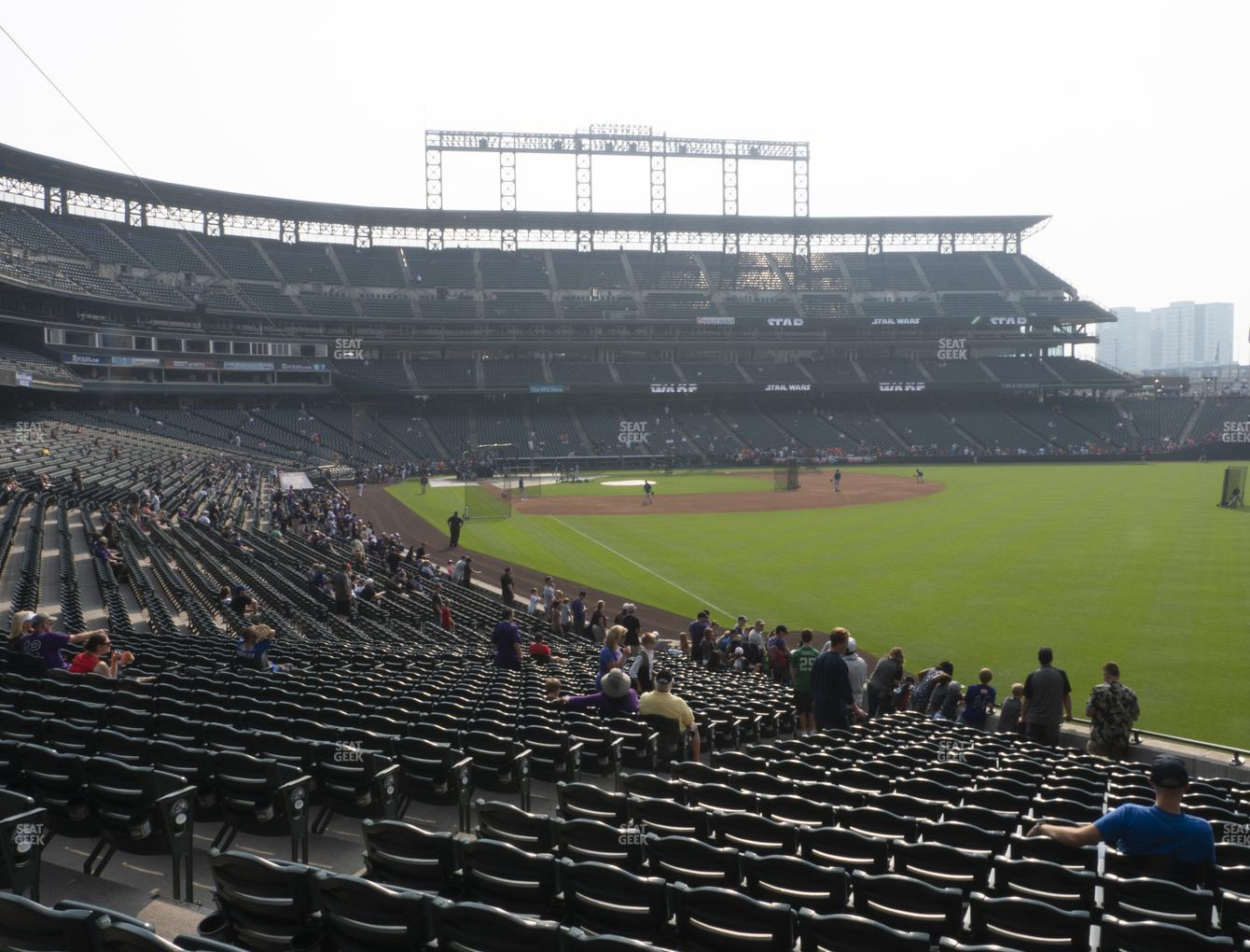 Colorado Rockies at Coors Field Section 111 View