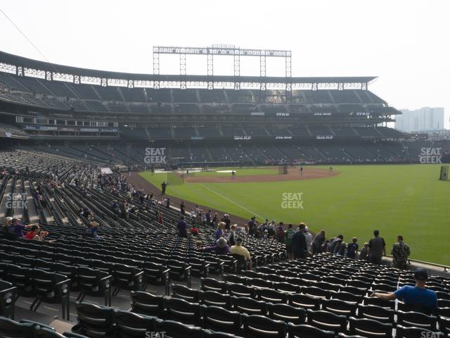 Coors Field Section 111 view