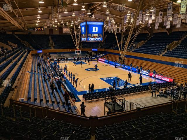 Cameron Indoor Stadium Section 9 view