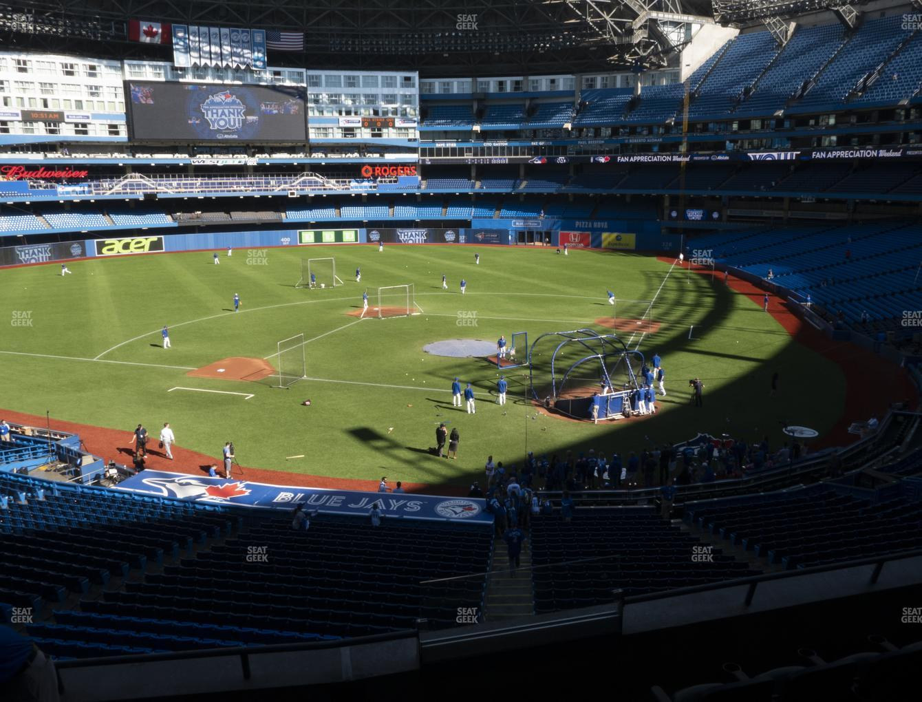 Toronto Blue Jays at Rogers Centre TD Comfort Club 226 R View