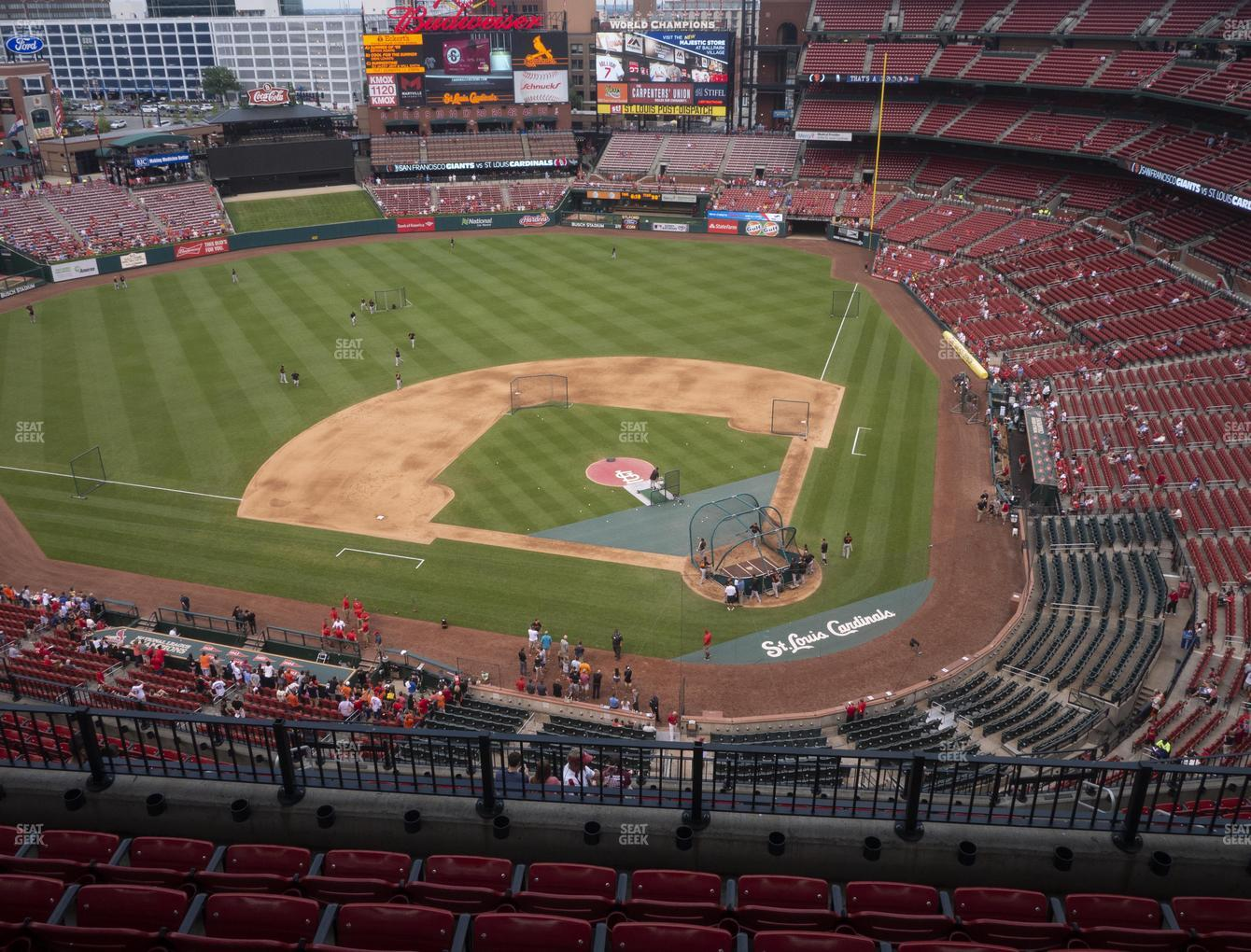 St. Louis Cardinals at Busch Stadium Infield Terrace 453 View