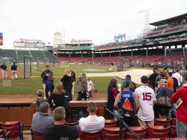 Fenway Park Field Box 60 view