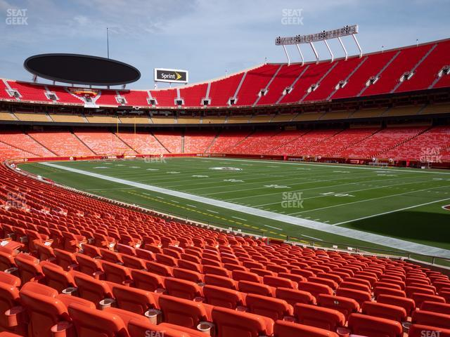Arrowhead Stadium Section 114 view