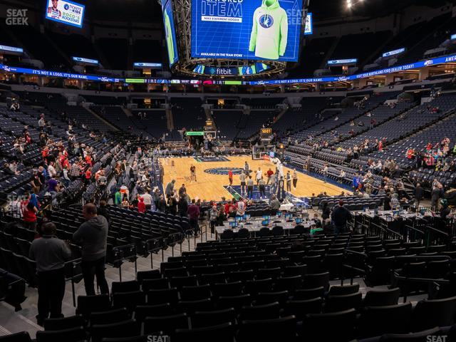 Target Center Section 122 view