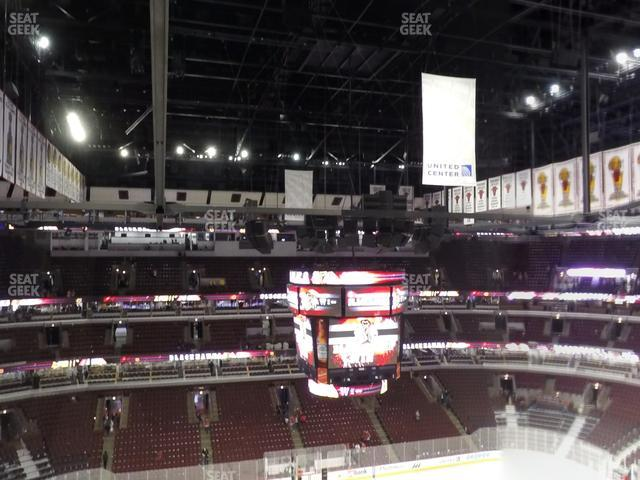 United Center Section 302 view