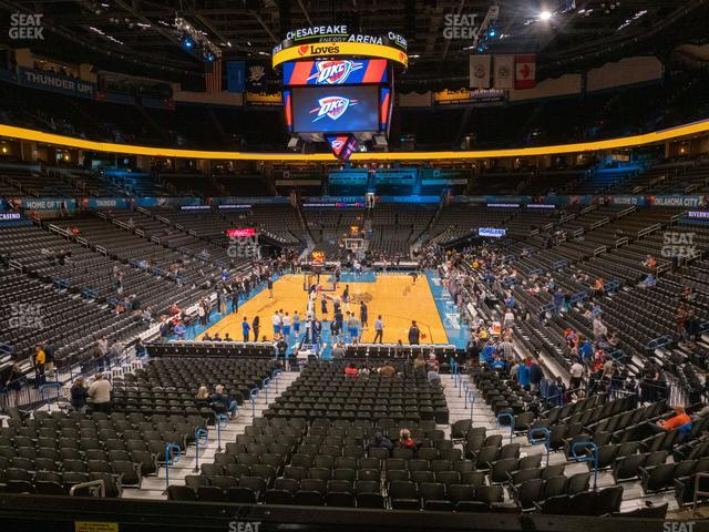 Chesapeake Energy Arena Lower Terrace 230 view