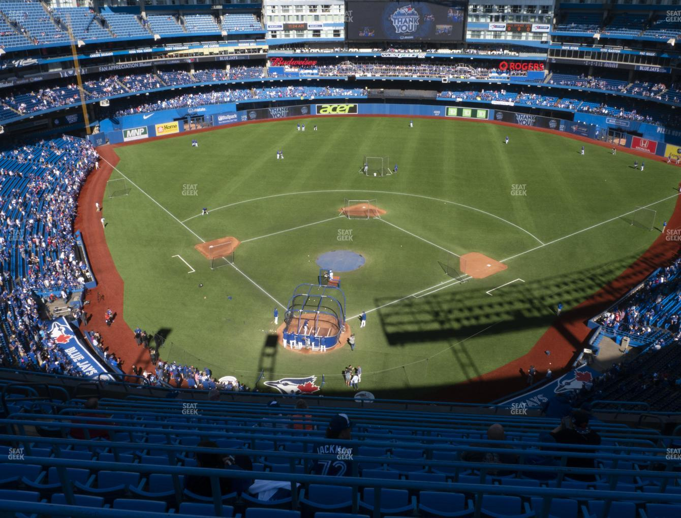Toronto Blue Jays at Rogers Centre Section 523 R View