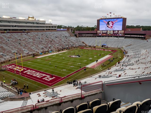 Doak Campbell Stadium Section Club 315 view