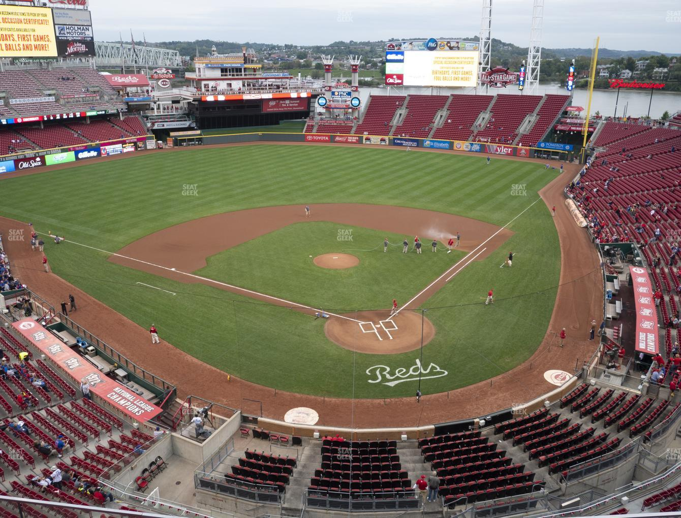 Cincinnati Reds at Great American Ball Park Section 422 View