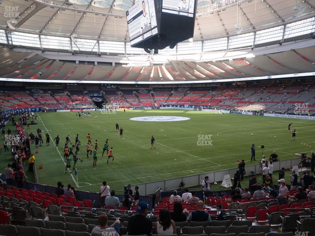 BC Place Stadium Section 206 view