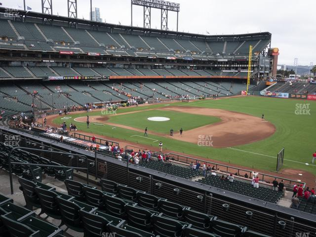 Oracle Park Section 204 view