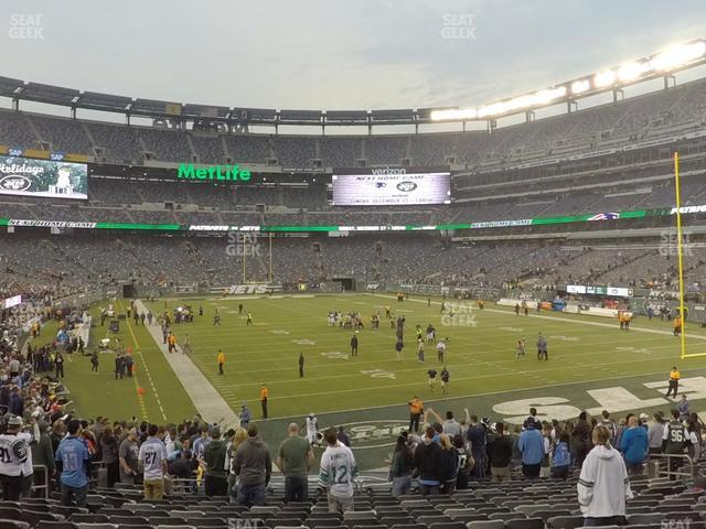MetLife Stadium Section 104 view