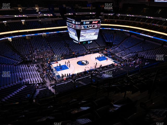American Airlines Center Section 329 view