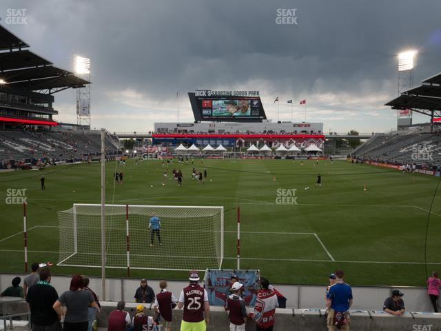 Dick's Sporting Goods Park Section 117 view