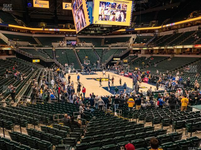 Bankers Life Fieldhouse Section 111 view