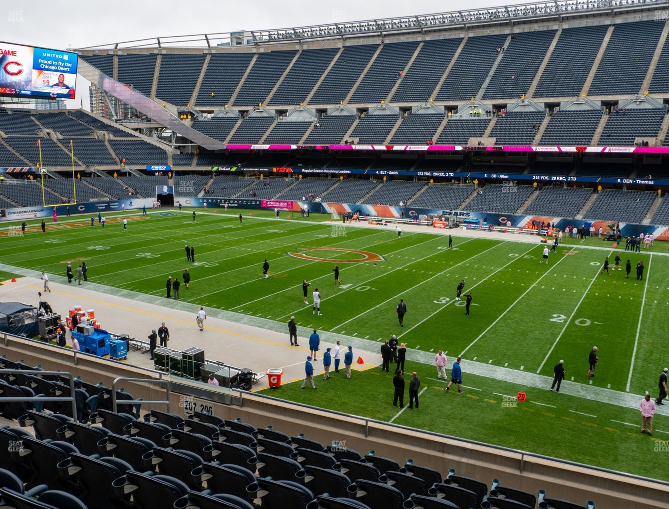 Chicago Bears at Soldier Field Section 206 View