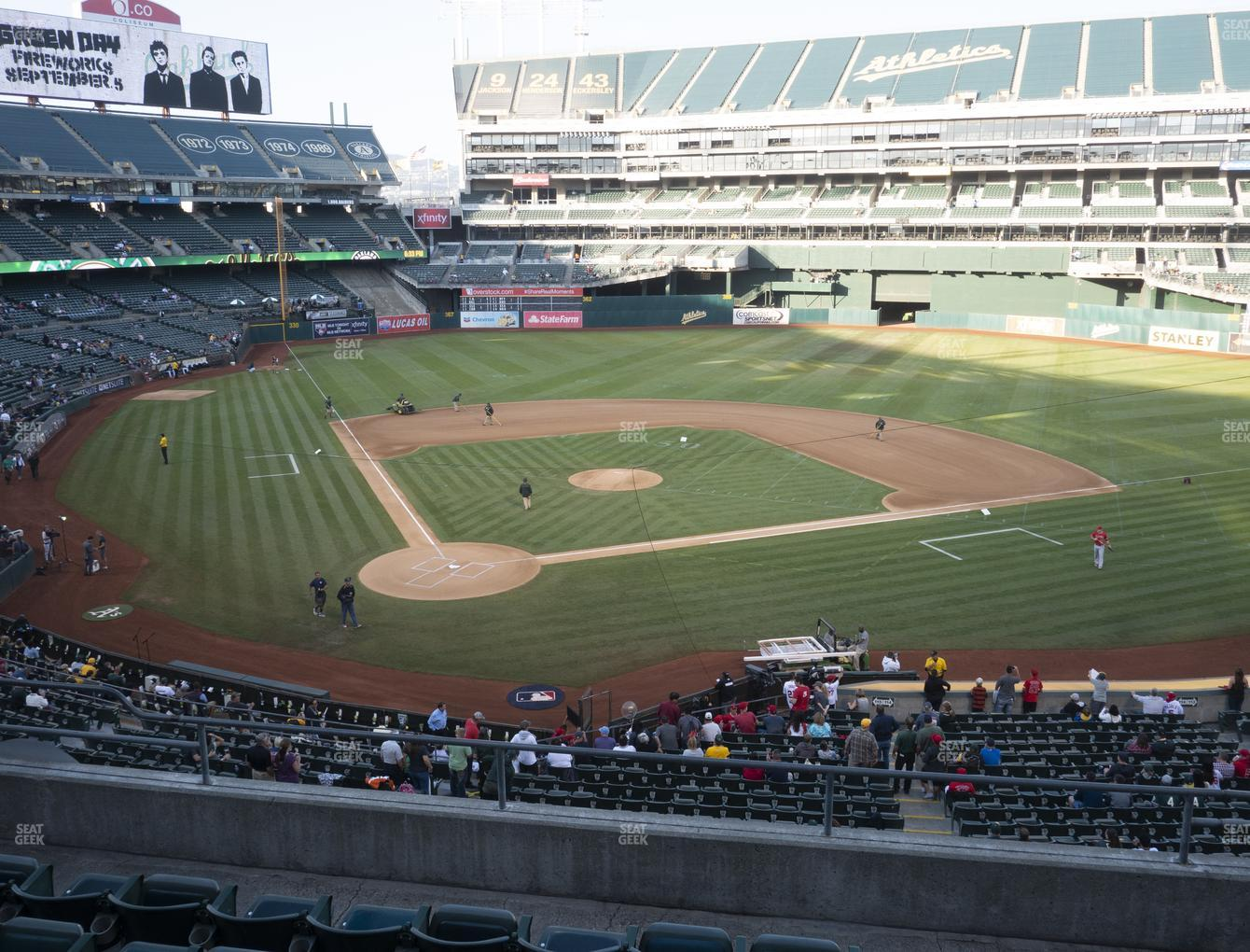 Oakland Athletics at RingCentral Coliseum Section 215 View