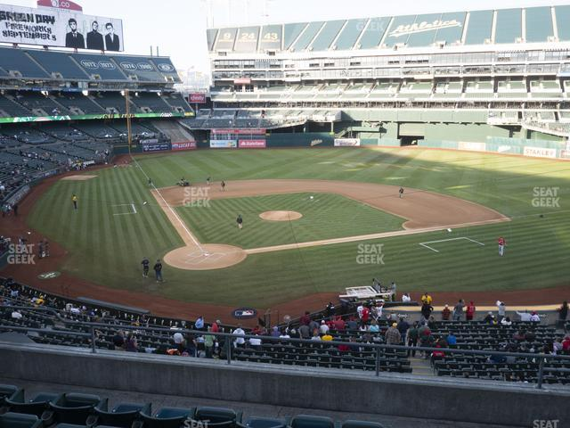 Oakland-Alameda County Coliseum Section 215 view