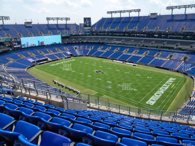 M&T Bank Stadium Section 548 view