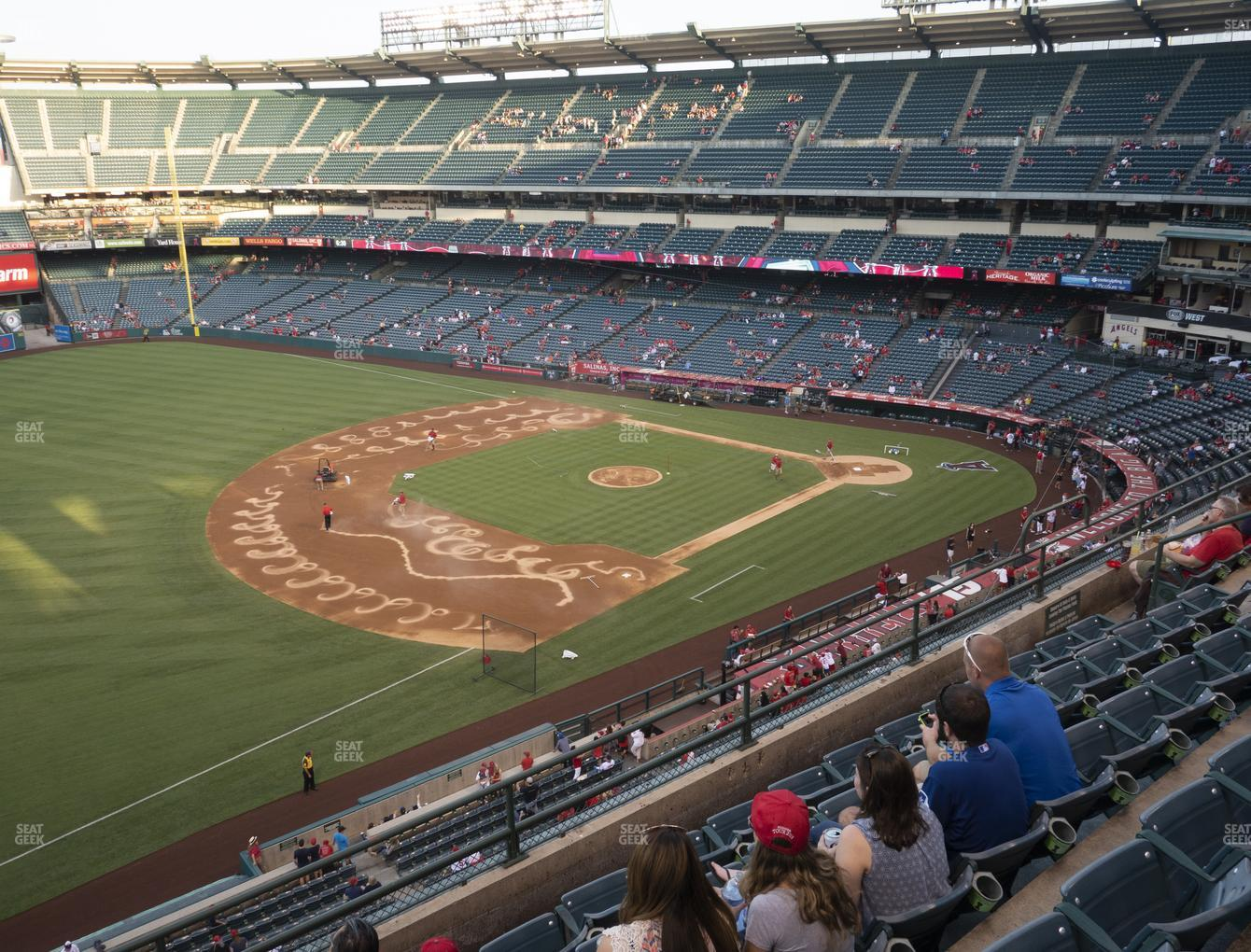 Los Angeles Angels at Angel Stadium of Anaheim Section 409 View