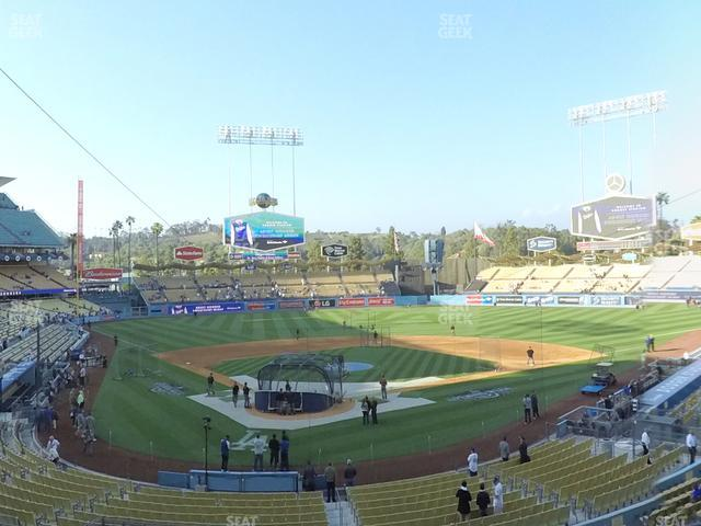 Dodger Stadium Loge Box 108 view