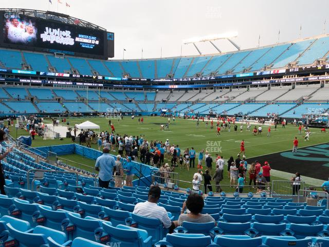 Bank of America Stadium Section 126 view