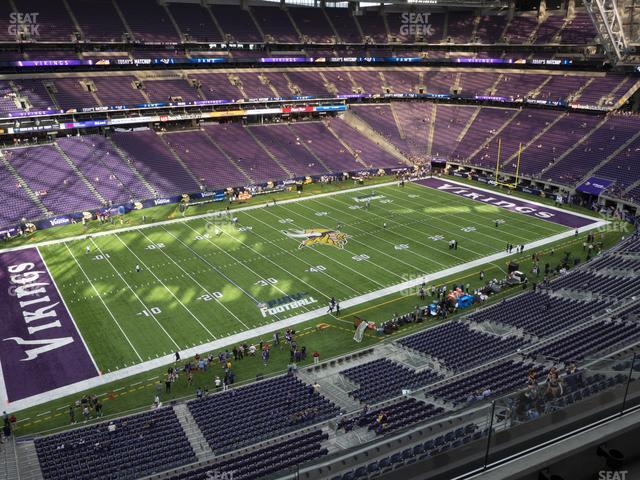 U.S. Bank Stadium Section 345 view