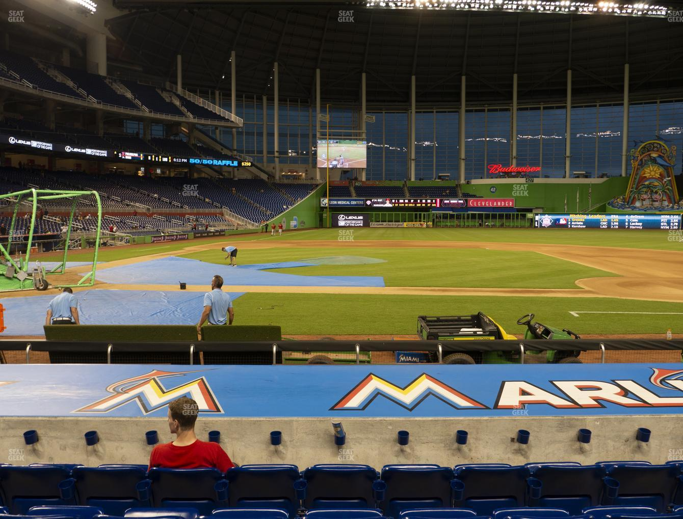 Miami Marlins at Marlins Park Section 9 View