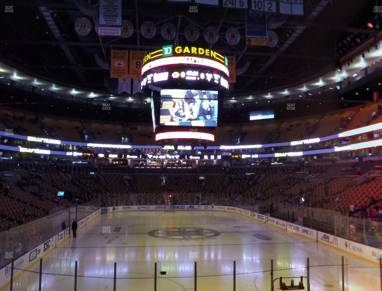 Boston Bruins at TD Garden Section Loge 7 View