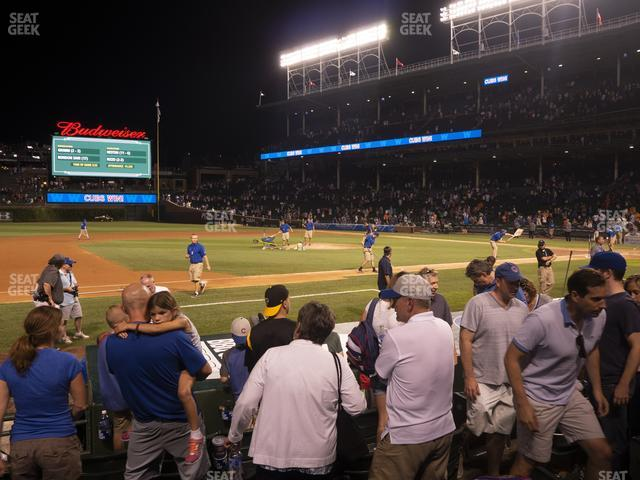 Wrigley Field Club Box Infield 11 view