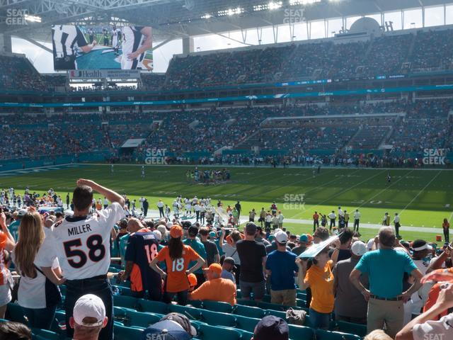 Hard Rock Stadium Section 115 view