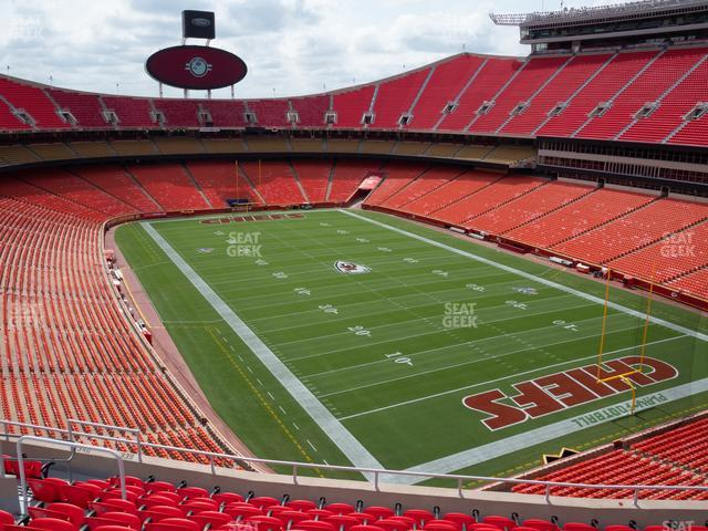 Arrowhead Stadium Section 339 view
