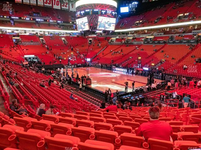 American Airlines Arena Section 115 view